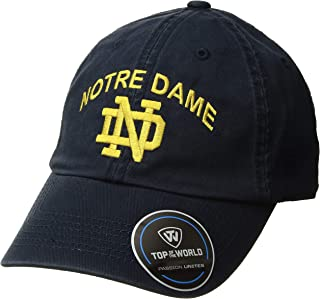 NCAA Notre Dame Fighting Irish Men's Adjustable Relaxed Fit Team Arch Hat