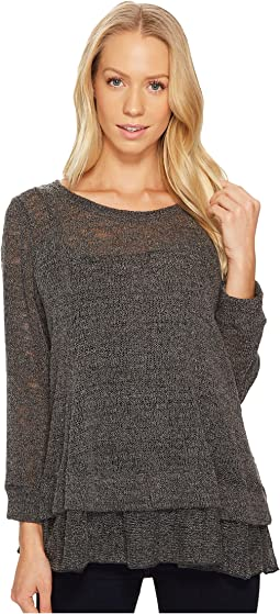 Nally & Millie - Double Band Knit Top