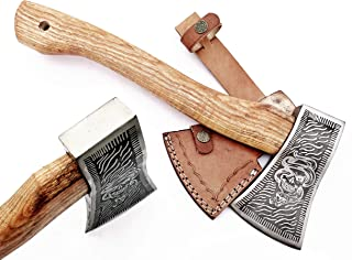 DIST-AX-263, Custom Handmade Stainless Steel Axe-Gorgeous and Solid Wood Handle