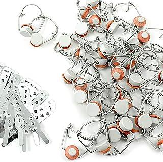 Duhalle 931 40 Bouchons mécaniques têtes Type Porcelaine, Plastique, Blanc, 7 x 22 x 18 cm