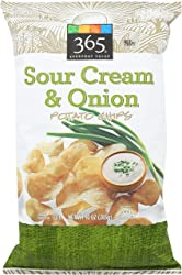 365 Everyday Value, Potato Chips, Sour Cream & Onion, 10 oz