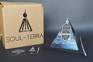 Soul-Terra Protection Crystal Candle - black salt + crystals