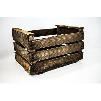 DECORANDO CON SAM Caja Antigua Envejecida Vintage, Caja Antigua Tipo Fruta, Envejecido, Marrón, 50x36x32cm, 1 Unidad: Amazon.es: Hogar