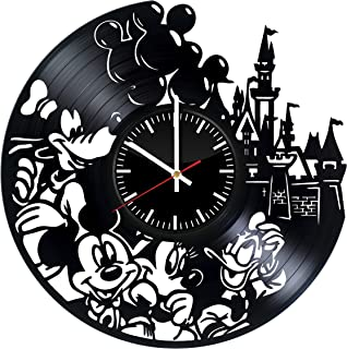 Disney, Mickey Mouse & Minnie Mouse vinyl record wall clock