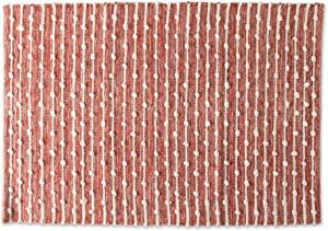 DII Slub Rug Collection Recycled Cotton Loop, 2x3', Spice