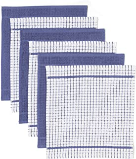 comprar comparacion Carrefour Tex - Pack 6 Paños de Cocina 42 x 45 cm Azul