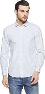 Peter England Men's Printed Slim Fit Cotton Casual Shirt