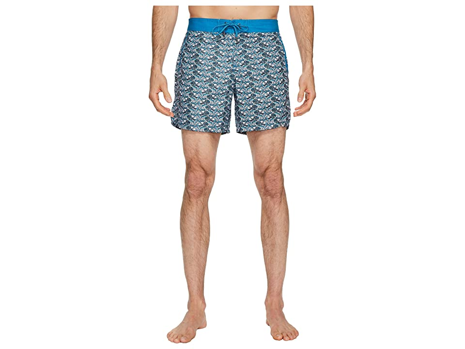 Mr. Swim Fish Swirls Chuck Swim Trunks (Teal) Men