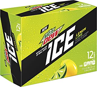 Mountain Dew Ice Soda, 12 oz Cans, 12 Count