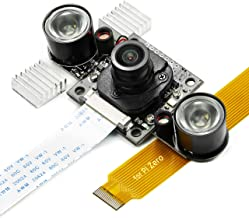 Arducam Day-Night Vision for Raspberry Pi Camera, All-Day Image All-Model Support, IR LED for Low Light and Night Vision, M12 Lens Interchangeable, IR Filter Switch Programmable, OV5647 5MP 1080P