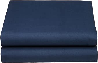 Cathay Luxury Silky Soft Polyester Single Fitted Sheet, Twin Size, Navy Blue
