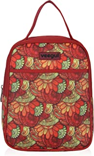 Veegul Fashion Tote Cooler Bag Insulated Lunch Bag for Women and Men Work or Picnic Wine Red
