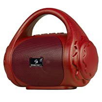 Zebronics ZEB-COUNTY Wireless Bluetooth Portable Speaker With Supporting Carry Handle, USB, SD Card, AUX, FM & Call Function (Red)