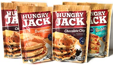 Hungry Jack Pancake Mix Variety Pack Bundle - 2 Packs Each of Buttermilk, Chocolate Chip and Funfetti Flavors - 6 Total Packs - GREAT VALUE!