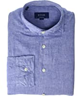 Eton - Contemporary Fit Cotton/Linen Solid