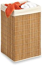 Honey-Can-Do HMP-01620 Square Hamper, Clothing Organizer, Bamboo