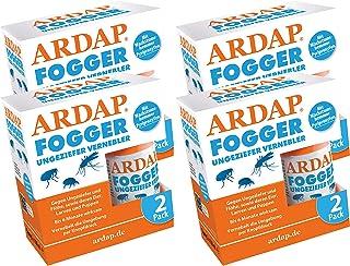 Quiko Ardap Fogger Ungeziefer Vernebler für 8 Räume bis 240 m2, 8 x 100ml