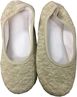 isotoner Women's Terry Quilted Ballet Slipper Flat