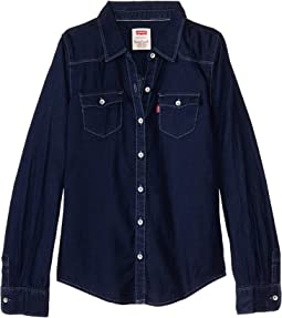 The Western Long Sleeve Denim Top (Big Kids)