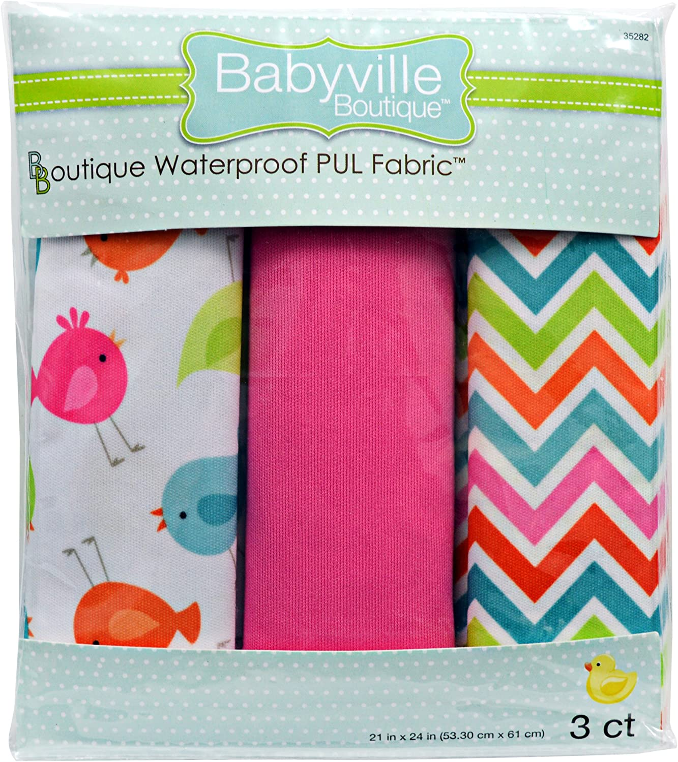 Babyville Boutique Waterproof Breathable PUL Fabric Solid Pink