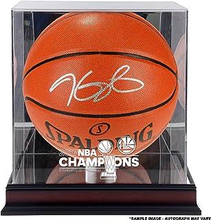 8c0456653bf Kevin Durant Warriors Autographed 2017 NBA Finals Champions Basketball with  a NBA Finals Champs Mahogany Basketball