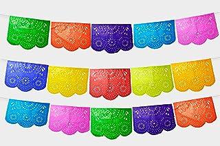 Fiesta Brands 30 Panel Pack. Mexican Papel Picado Banner.Colores de Primavera.Over