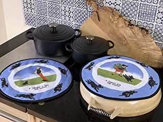 Oven, Aga Hob Covers, Range Pads - Amusing, Funny, Comical, Perfect Gift for Dog Lovers. Tottering Range.