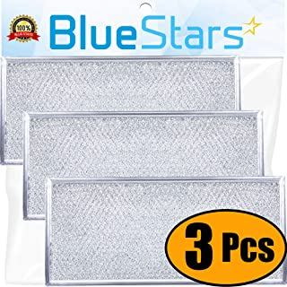 Ultra Durable W10208631A Filter Aluminum Mesh Microwave Grease Filter Replacement Part by Blue Stars - Exact Fit for Whirlpool & Maytag Microwaves - Replaces AP5617368, W10208631 - Pack Of 3