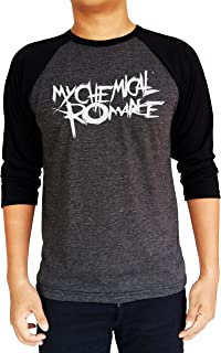 My Chemical Romance MCR Logo Baseball Tee Raglan 3/4 Sleeve T Shirt