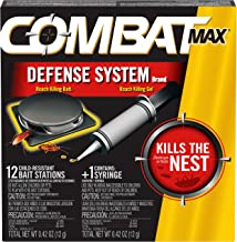 Combat Max Defense System Brand, Small Roach Killing Bait and Gel, 12 Count