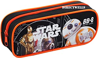 Star Wars Robot BB Character Authentic Licensed Single Zipper Pencil Case (Black)