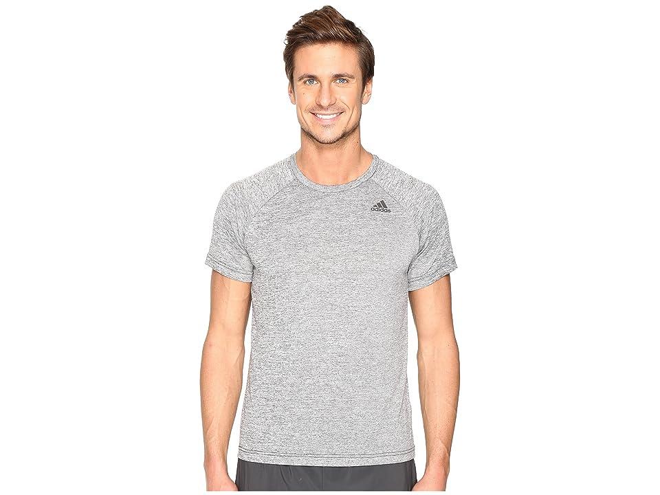 adidas Designed-2-Move Heather Tee (Black) Men's T Shirt