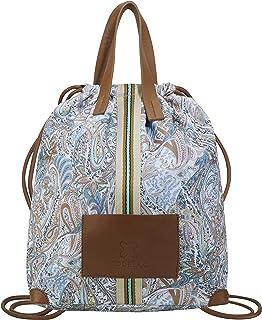 CODELLO Damen Tasche, Rucksack   Paisley   100% Baumwolle Canvas   42 x 32 x 17 cm
