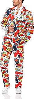 Smiffy's Men's Comic Strip Suit with Jacket Trousers and Tie
