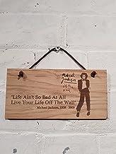 Michael Jackson 'cita vida Ain' t por lo que Bad a todos, vive tu vida de la pared.