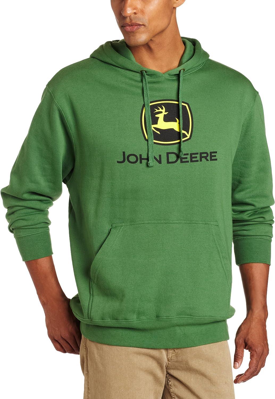 John Deere NCAA Mens Trademark Logo Core Hood Pullover Fleece