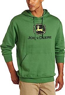 John Deere Men's Trademark Logo Core Hood Pullover Fleece