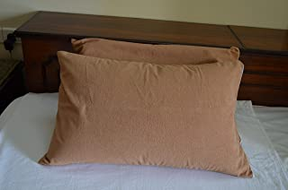 "Trance Home Linen Waterproof & Dustproof Pillow Protector 20"" X 30"" (Brown)"