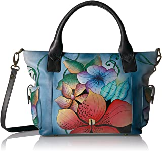 Anna by Anuschka Handpainted Leather Women's Large Tote with Side Pockets