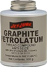 Jet-Lube Graphite Petrolatum Anti Seize Compound, 500g Plug Top Can