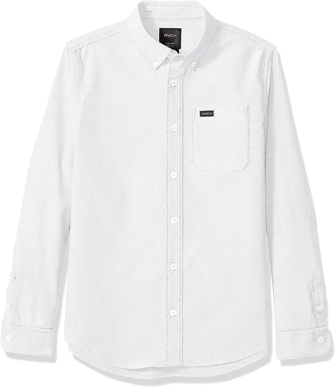 RVCA Boys' Big Thatll Do Stretch Long Sleeve Woven Button Up Shirt