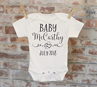 Simple Hearts Pregnancy Reveal Onesie, Reveal to Husband, Pregnancy Announcement, Customized Onesie