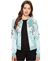 ROMEO & JULIET COUTURE - Flower Embroidered Varsity Jacket