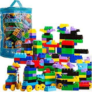 Dimple Large Blocks for Toddlers/Kids (300-Piece Set) Stackable, Multi-Colored, Interlocking Toys Safe, Non-Toxic Plastic Bright Colors, Waterproof Boys and Girls Age 3 +