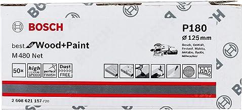 Bosch Professional 50 Stuks Schuurblad M480 Best for Wood and Paint (hout en verf, Ø 125 mm, korrelgrootte K180, accessoir...