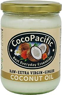 comprar comparacion CocoPacific - Aceite de coco virgen crudo con jengibre, 500 ml