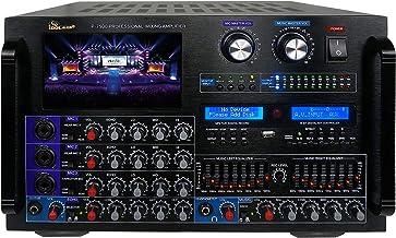 "IDOLmain IP-7500 8000W Pro Digital Console Mixing Amplifier W/ 7"" LCD Screen Monitor, Bluetooth, Recording, Guitar Level C..."
