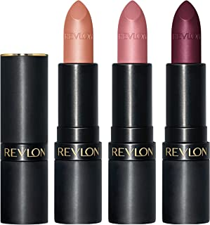 REVLON Super Lustrous The Luscious Mattes Lipstick, 3 Piece High Impact Lipcolor Gift Set, Matte Finish in Nude Pink & Berry, Pack of 3