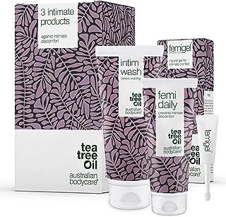 Australian Bodycare Intim Treatment Kit | 3 Tea Tree Oil produkter för intimvård mot torrhet, lukt, klåda eller annat unde...