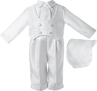 Lauren Madison Baby boy Christening Baptism Infant Shantung Pant With Vest